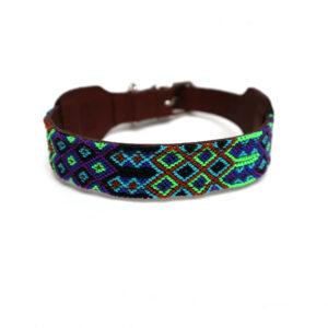 Blauw groene hondenhalsband
