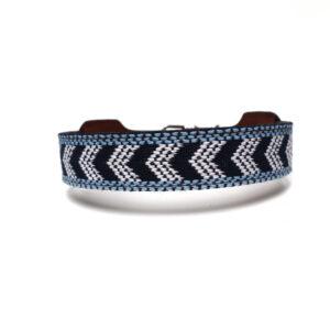 Halsband blauw patroon