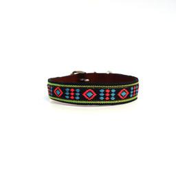 Halsband met gekleurd patroon XXS
