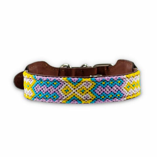 Hondenhalsband met pastelkleuren