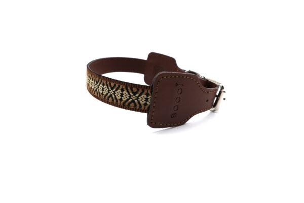 Bruine hondenhalsband