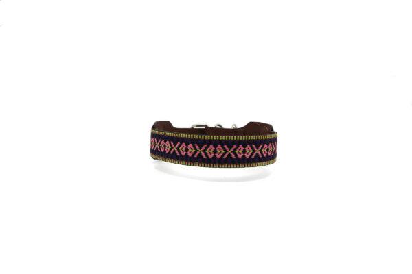 Paarse hondenhalsband