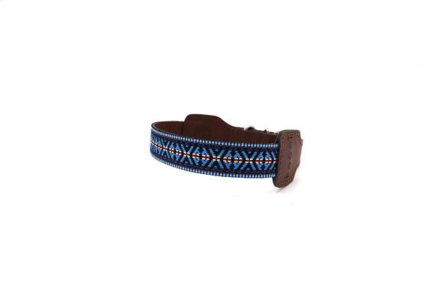 Blauwe hondenhalsband