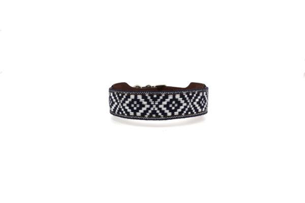 Blauw witte halsband